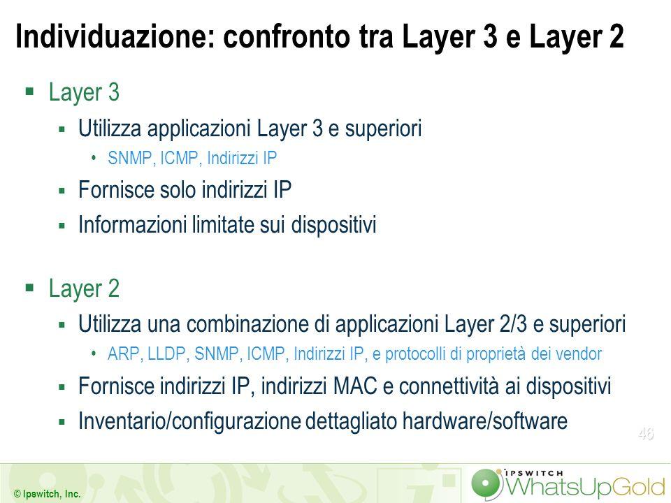Individuazione: confronto tra Layer 3 e Layer 2