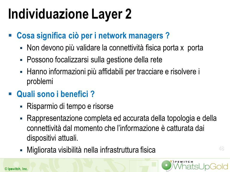 Individuazione Layer 2 Cosa significa ciò per i network managers