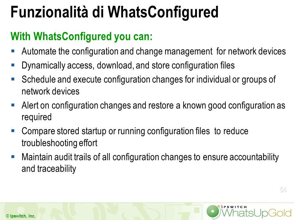 Funzionalità di WhatsConfigured