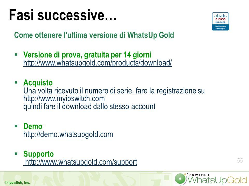 Fasi successive… Come ottenere l'ultima versione di WhatsUp Gold
