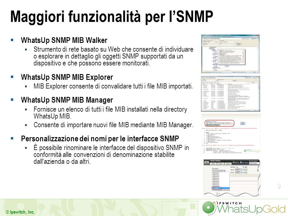 Maggiori funzionalità per l'SNMP