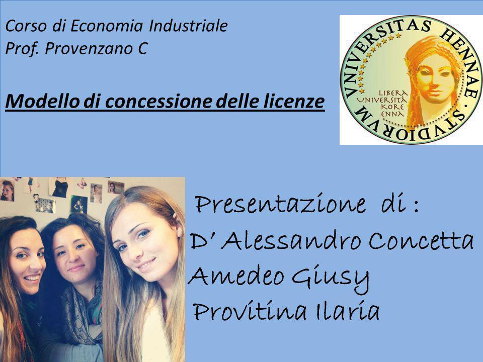 Presentazione di : D' Alessandro Concetta Amedeo Giusy Provitina Ilaria