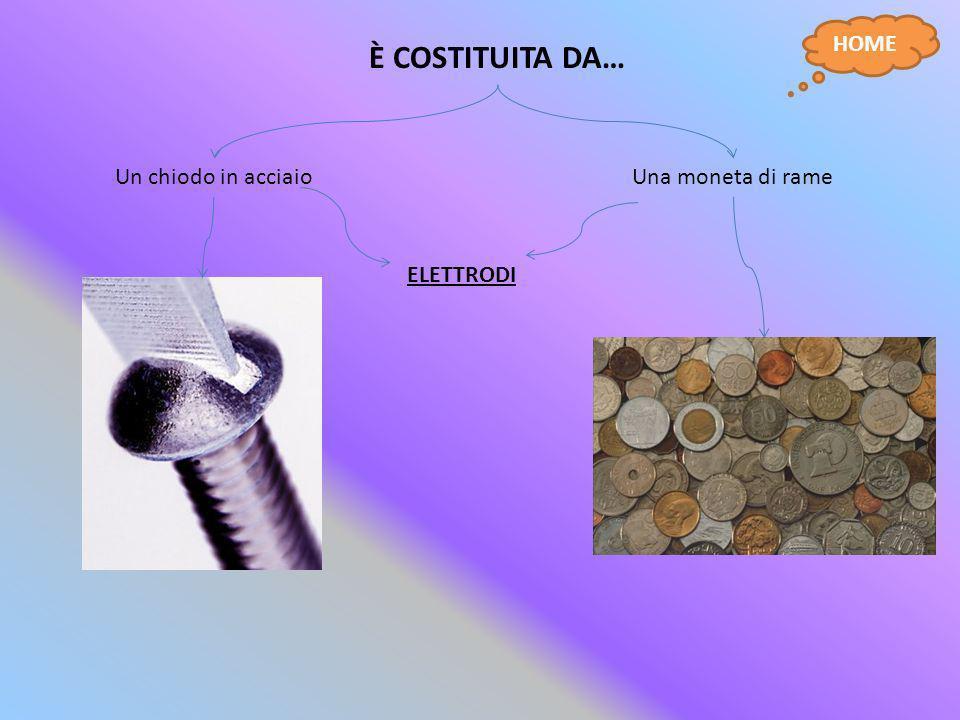 È COSTITUITA DA… HOME Un chiodo in acciaio Una moneta di rame