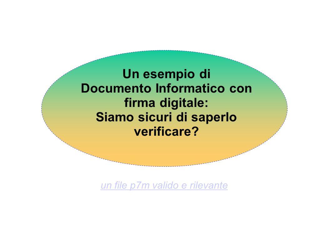 Documento Informatico con firma digitale: