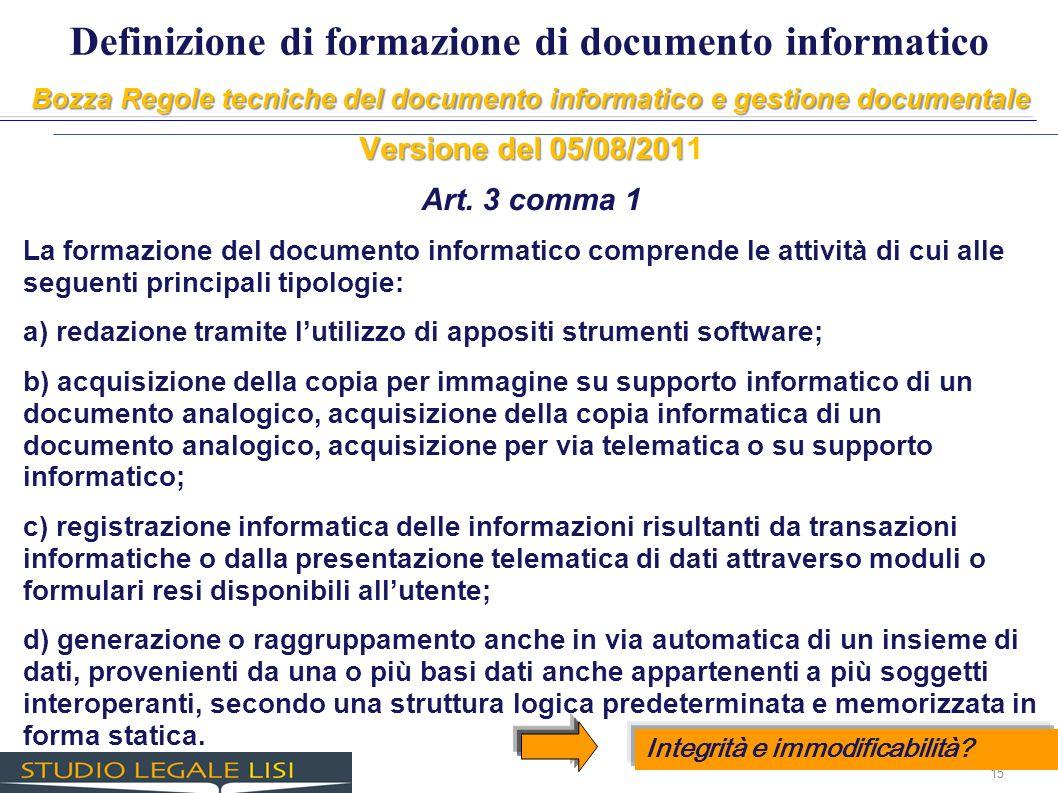 Definizione di formazione di documento informatico