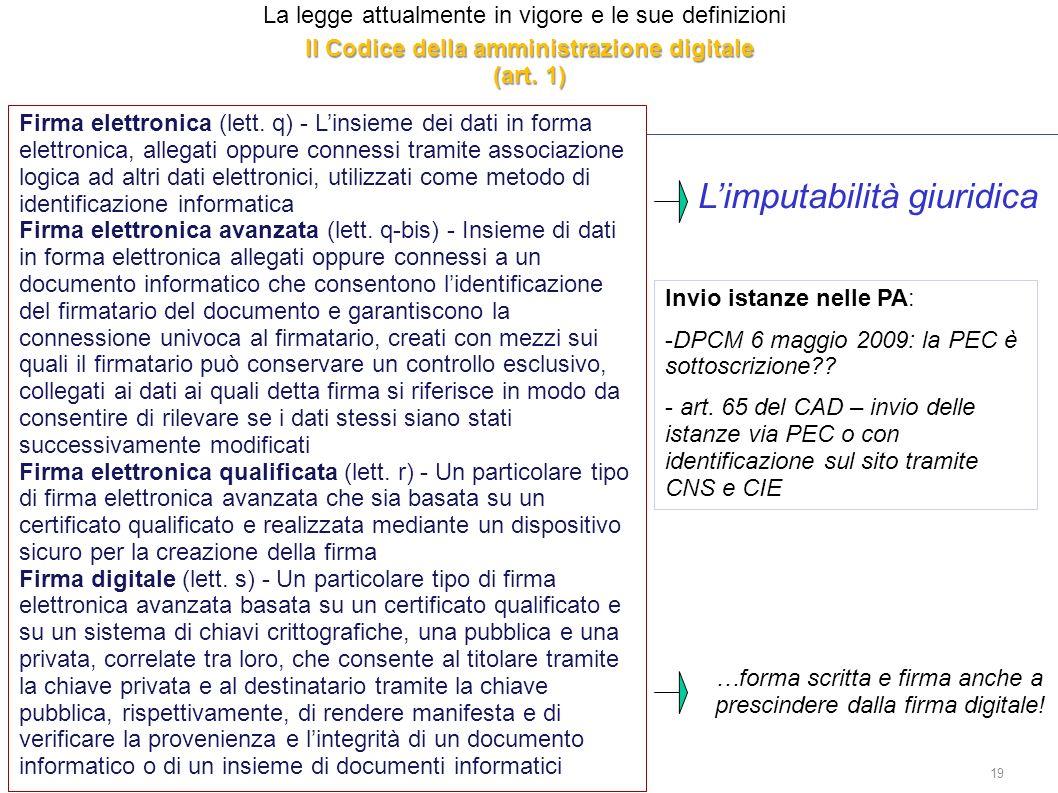 Il Codice della amministrazione digitale (art. 1)