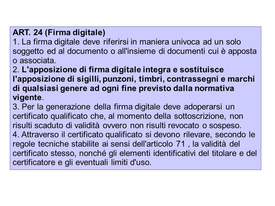 ART. 24 (Firma digitale)