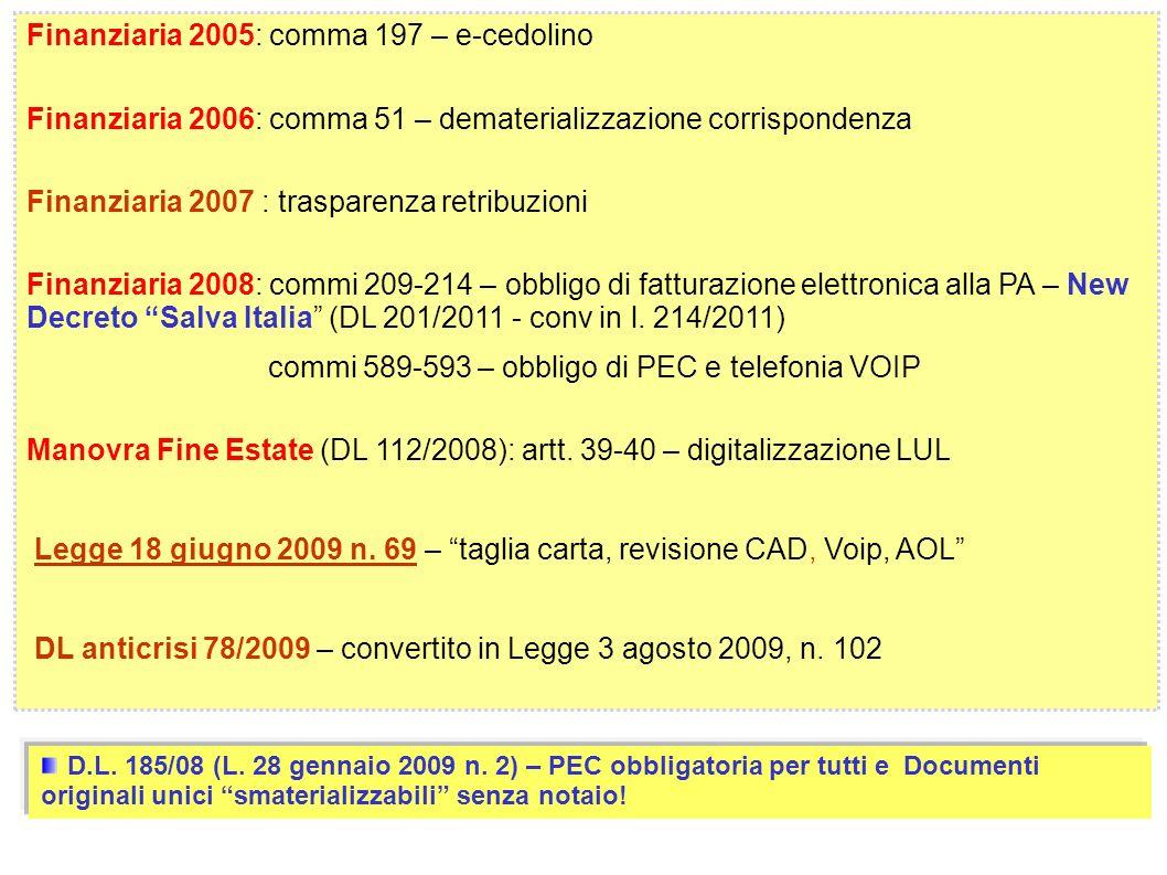 Finanziaria 2005: comma 197 – e-cedolino