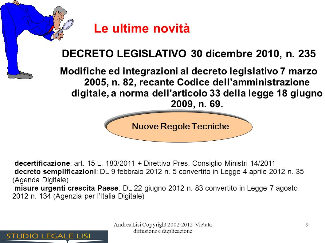DECRETO LEGISLATIVO 30 dicembre 2010, n. 235