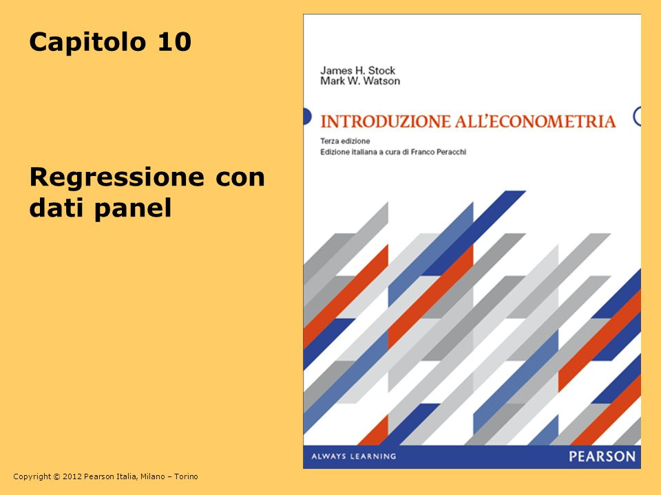 Capitolo 10 Regressione con dati panel