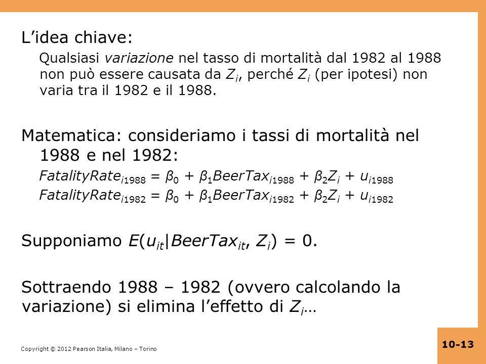 Matematica: consideriamo i tassi di mortalità nel 1988 e nel 1982: