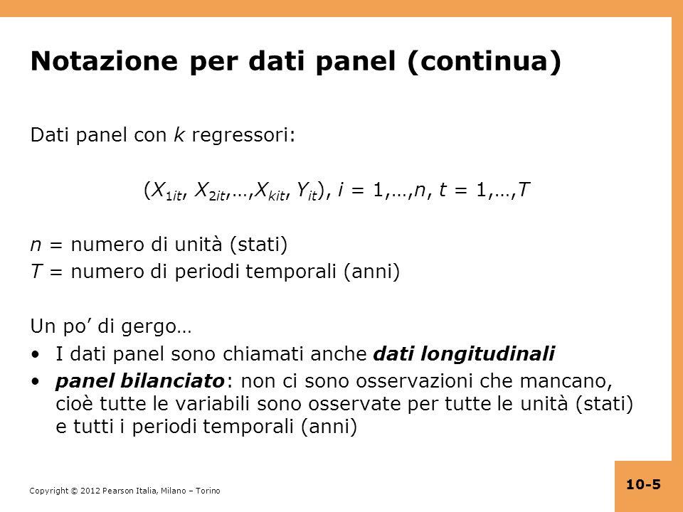 Notazione per dati panel (continua)