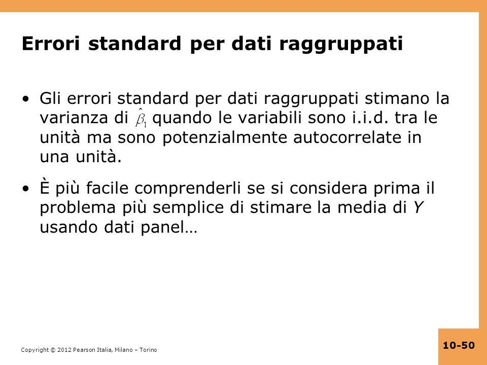 Errori standard per dati raggruppati