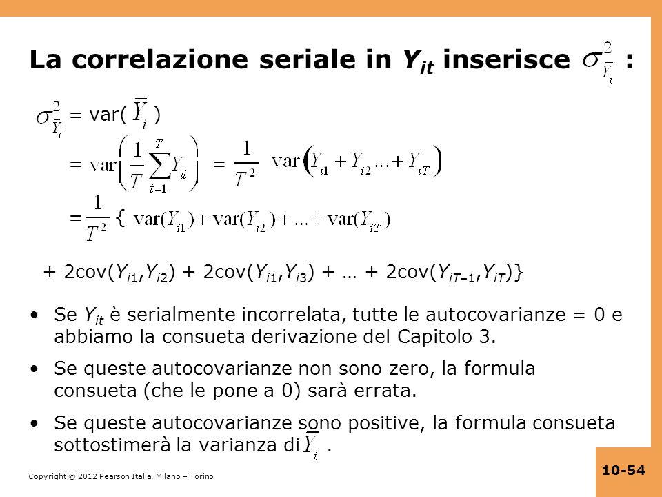 La correlazione seriale in Yit inserisce :