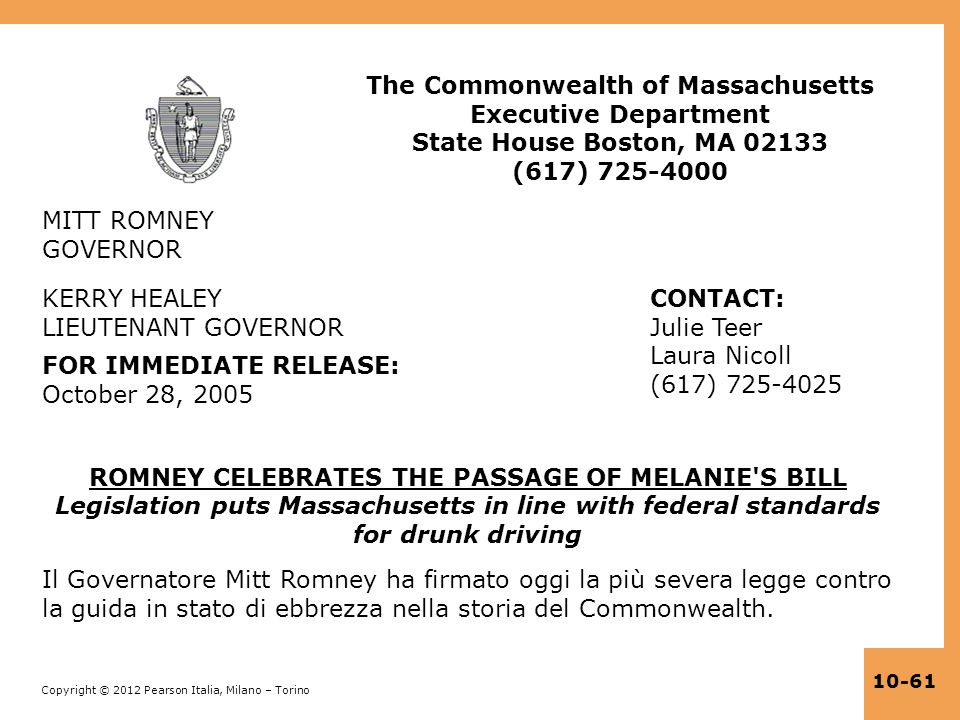 The Commonwealth of Massachusetts Executive Department State House Boston, MA 02133 (617) 725-4000
