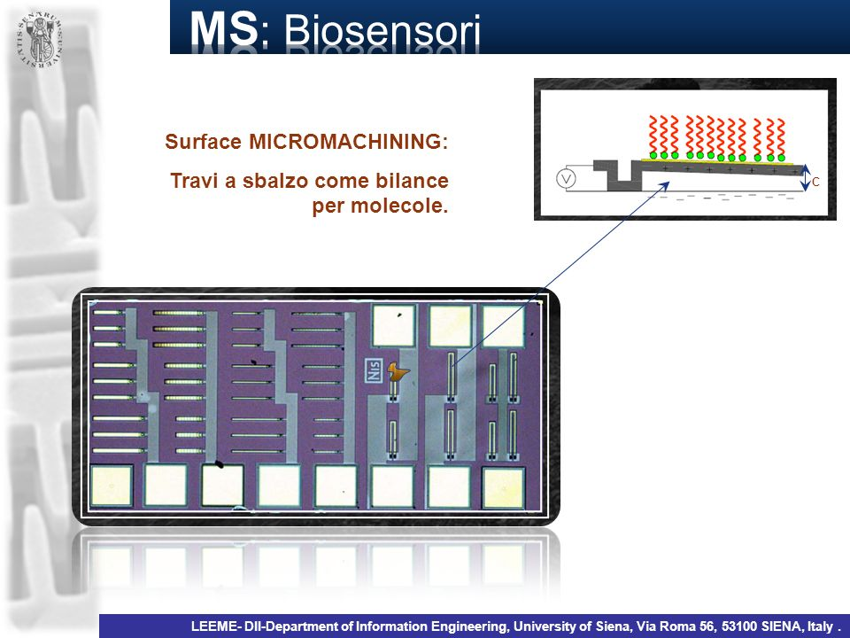 MS: Biosensori Surface MICROMACHINING: