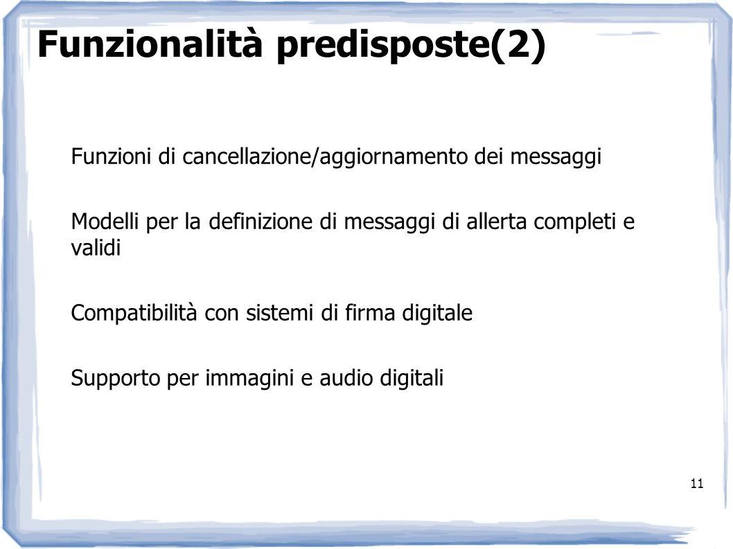 Funzionalità predisposte(2)