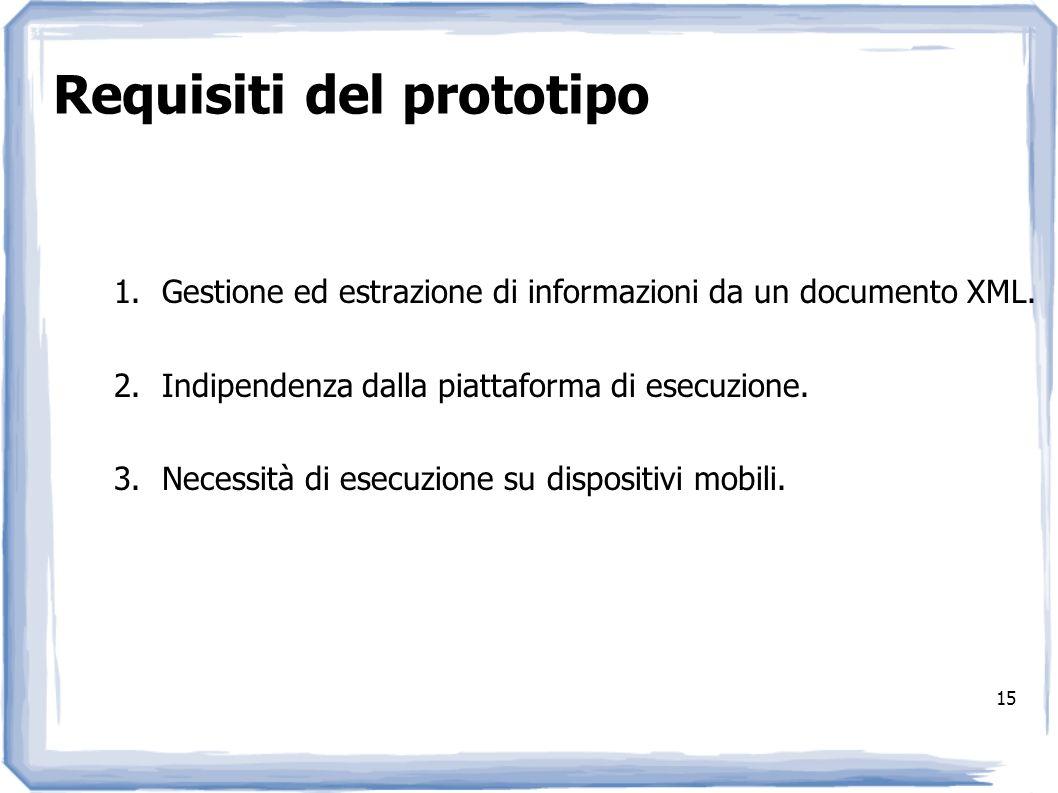 Requisiti del prototipo