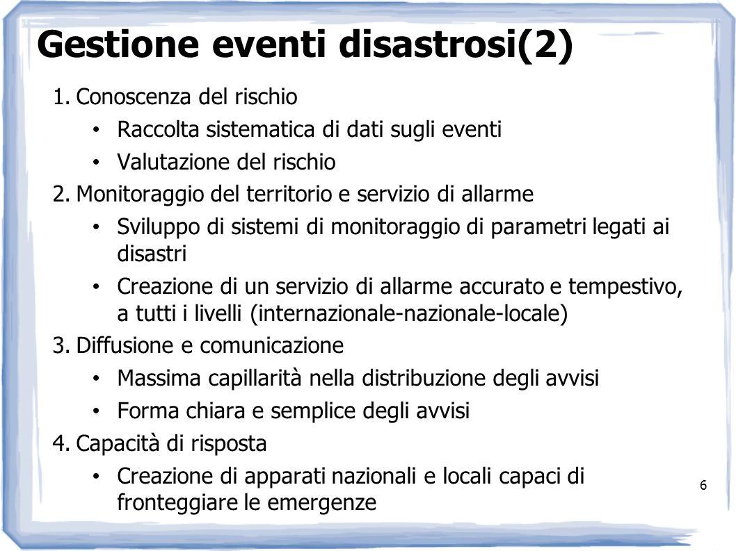 Gestione eventi disastrosi(2)