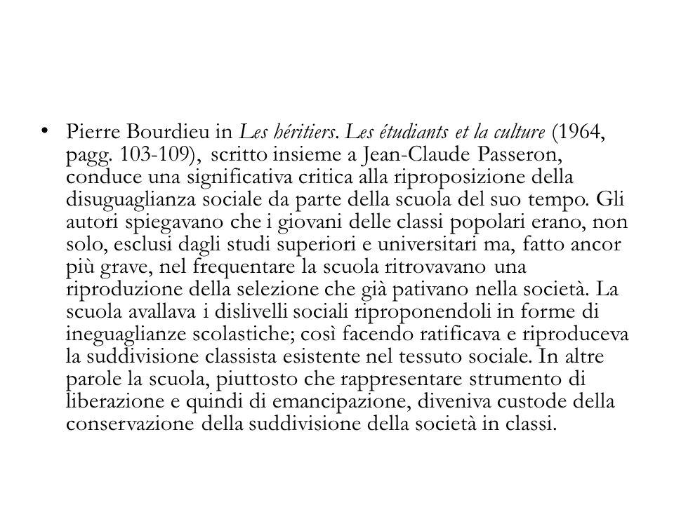 Pierre Bourdieu in Les héritiers