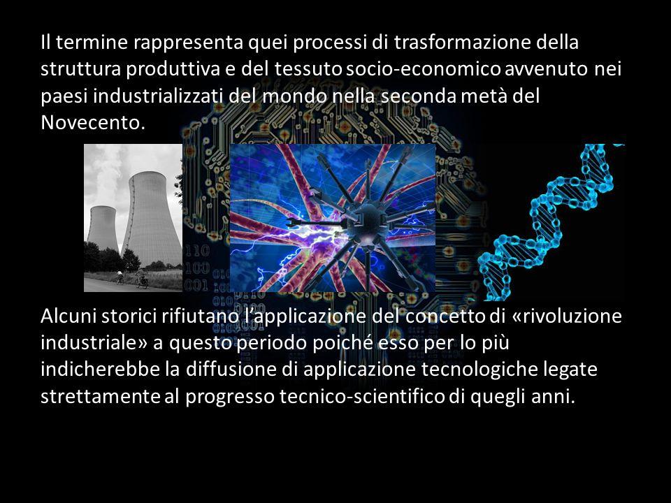 Il termine rappresenta quei processi di trasformazione della struttura produttiva e del tessuto socio-economico avvenuto nei paesi industrializzati del mondo nella seconda metà del Novecento.