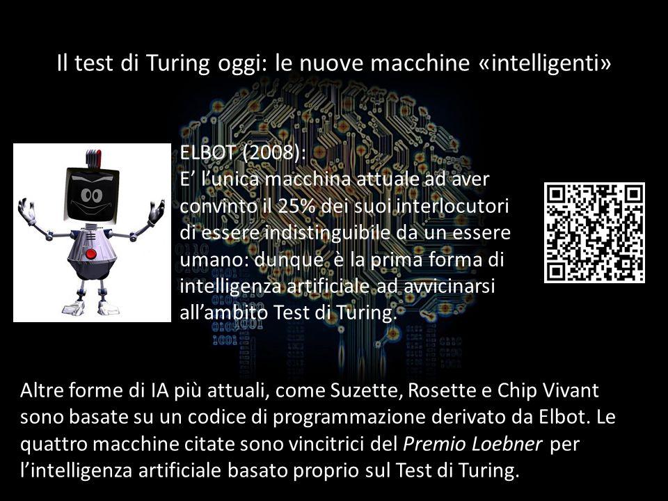 Il test di Turing oggi: le nuove macchine «intelligenti»