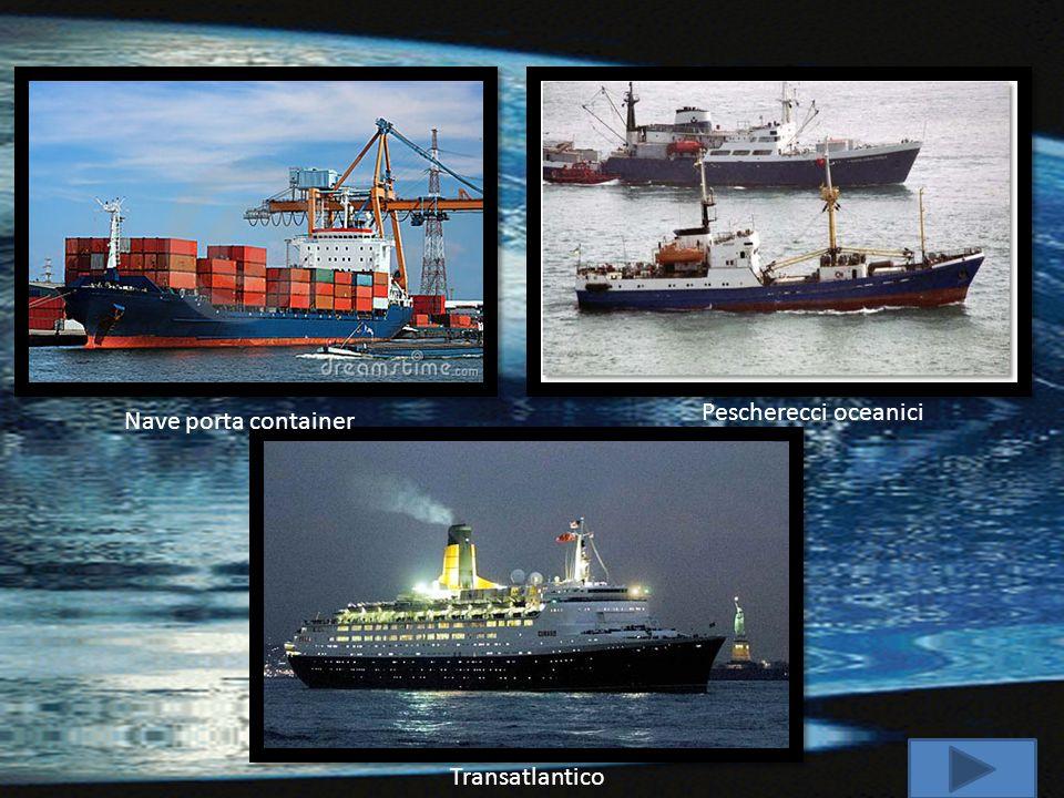 Pescherecci oceanici Nave porta container Transatlantico