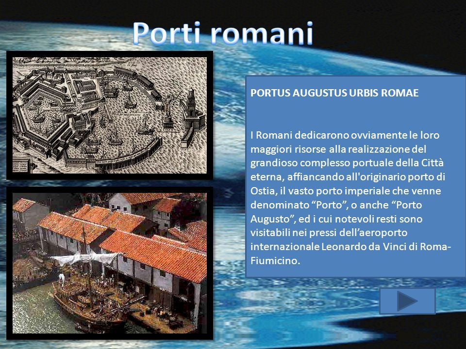 Porti romani PORTUS AUGUSTUS URBIS ROMAE