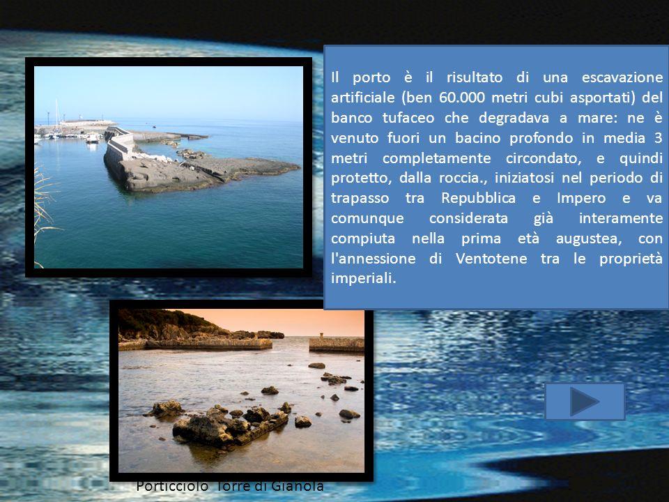 Il porto è il risultato di una escavazione artificiale (ben 60