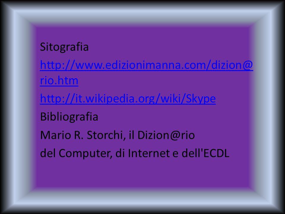 Sitografia http://www. edizionimanna. com/dizion@rio. htm http://it