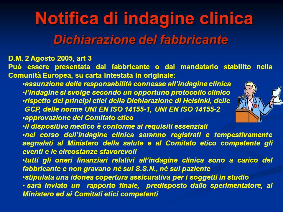 Notifica di indagine clinica