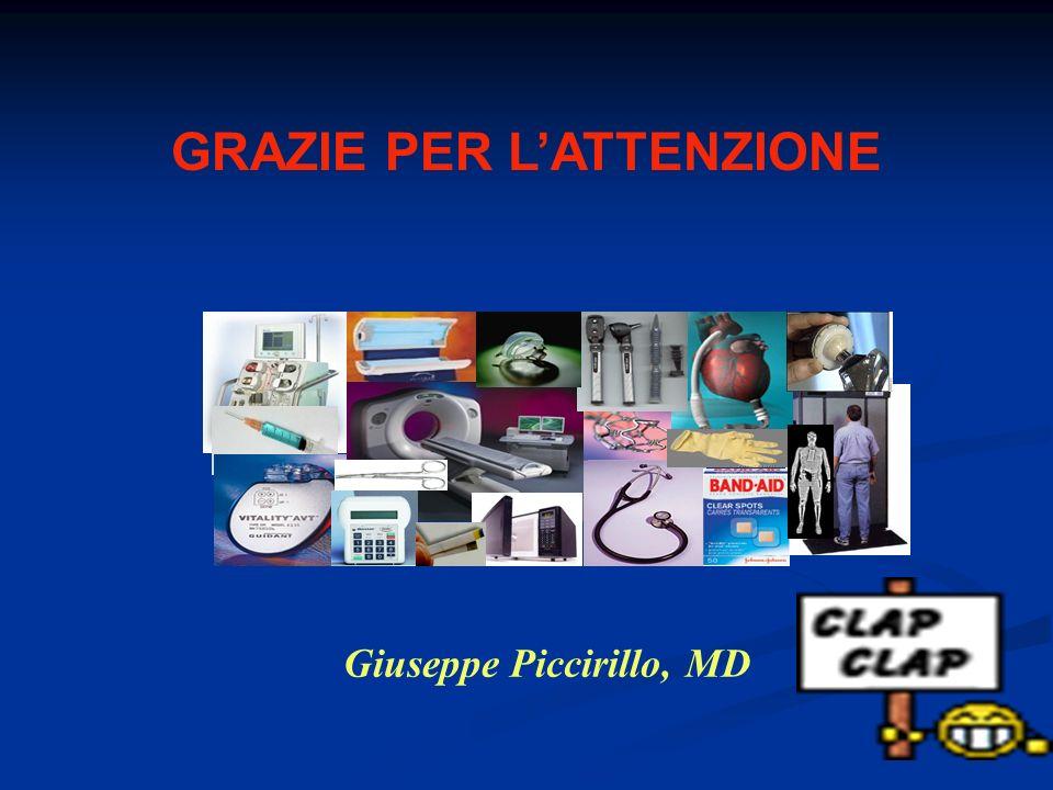GRAZIE PER L'ATTENZIONE Giuseppe Piccirillo, MD