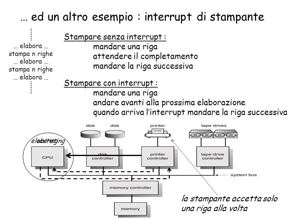 … ed un altro esempio : interrupt di stampante