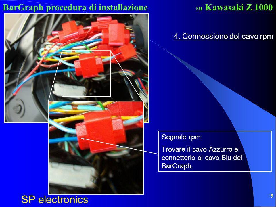 4. Connessione del cavo rpm