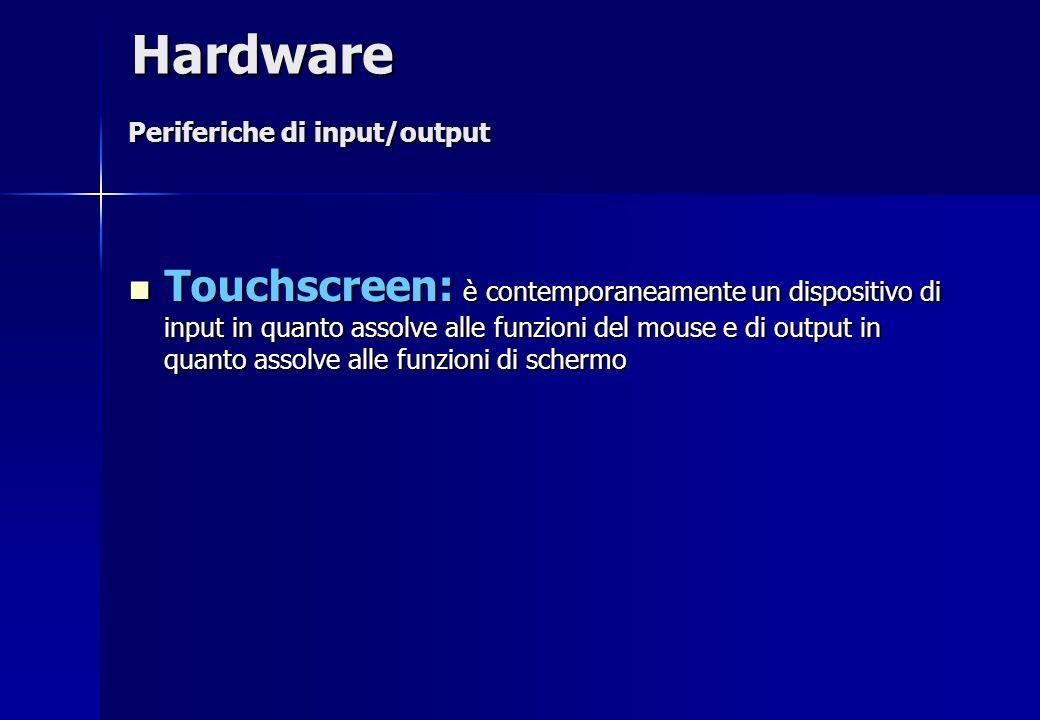Hardware Periferiche di input/output.