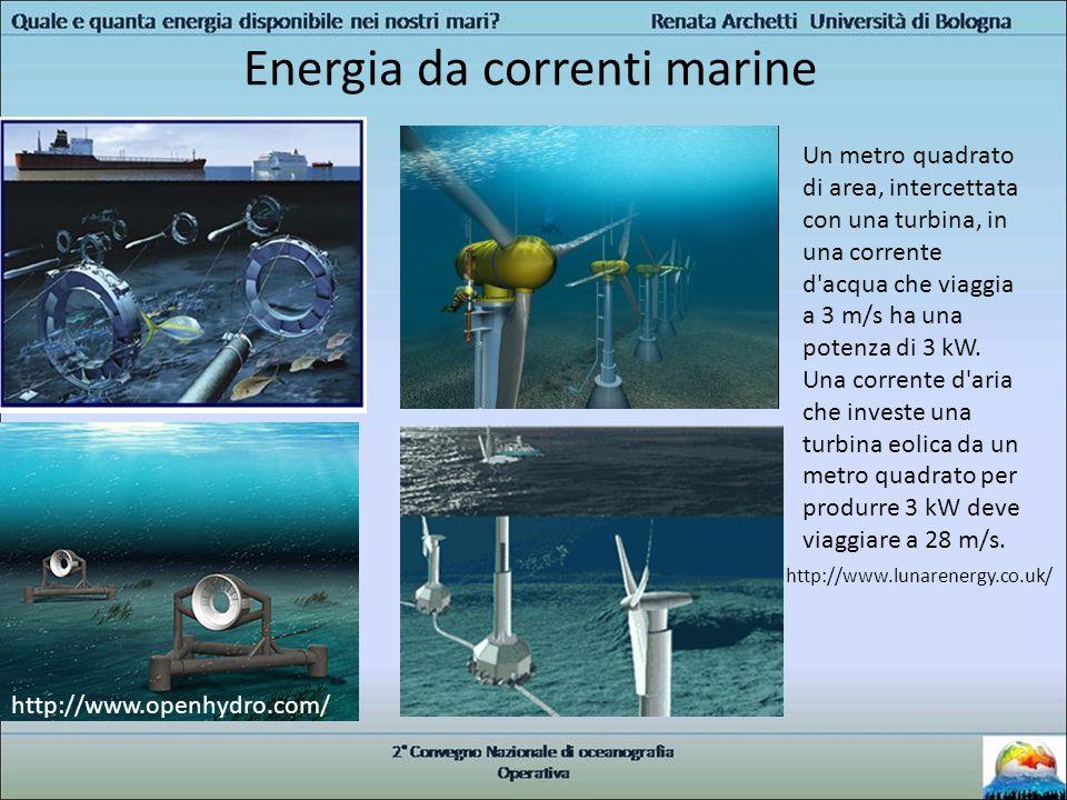Energia da correnti marine