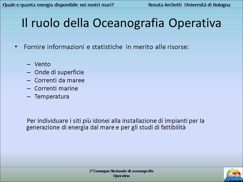 Il ruolo della Oceanografia Operativa