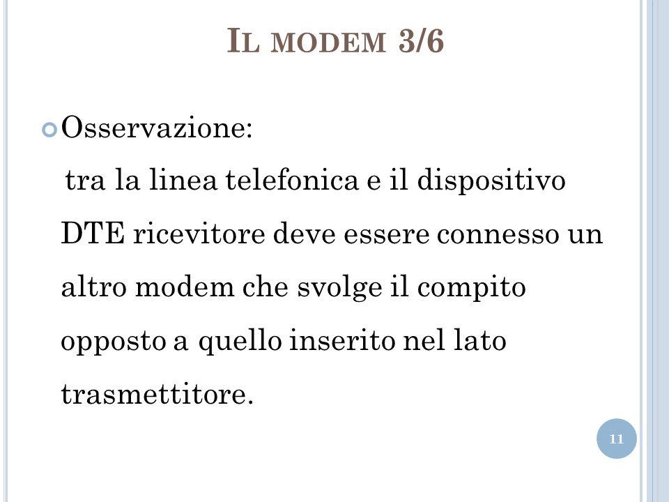 Il modem 3/6 Osservazione: