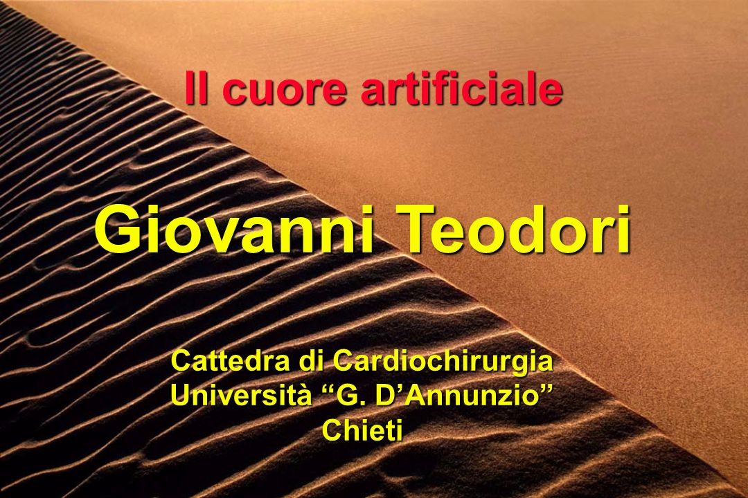 Cattedra di Cardiochirurgia Università G. D'Annunzio