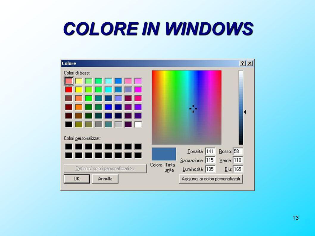 COLORE IN WINDOWS