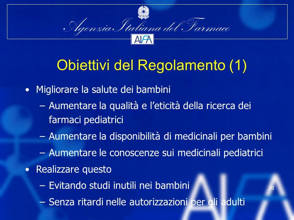 Obiettivi del Regolamento (1)