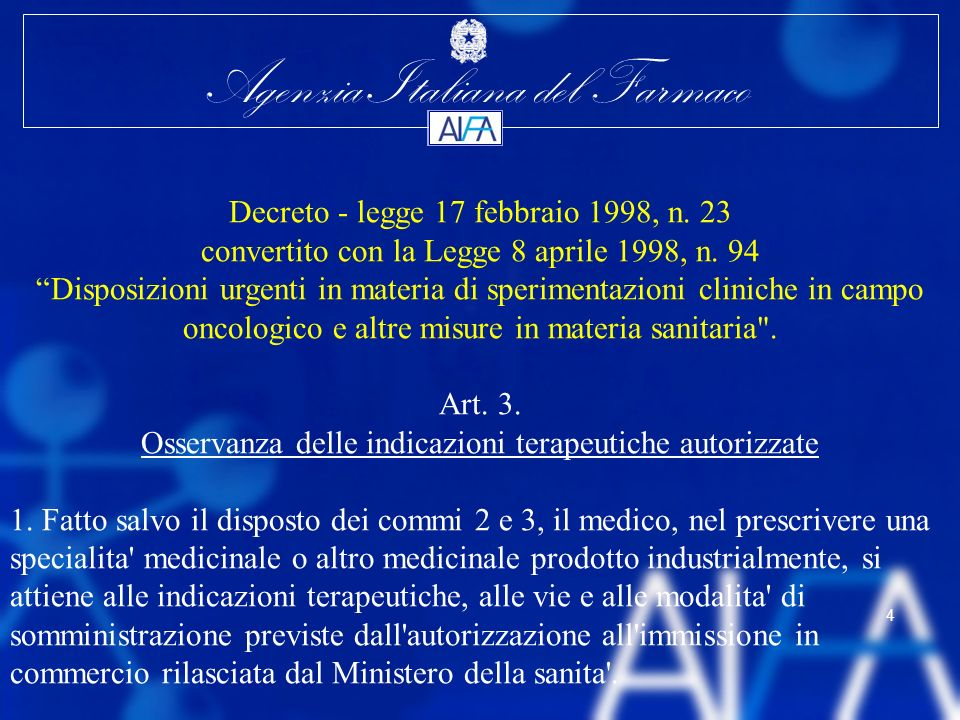 Decreto - legge 17 febbraio 1998, n. 23