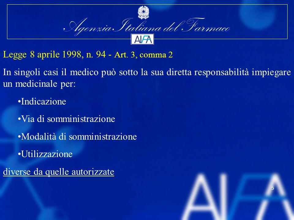 Legge 8 aprile 1998, n. 94 - Art. 3, comma 2