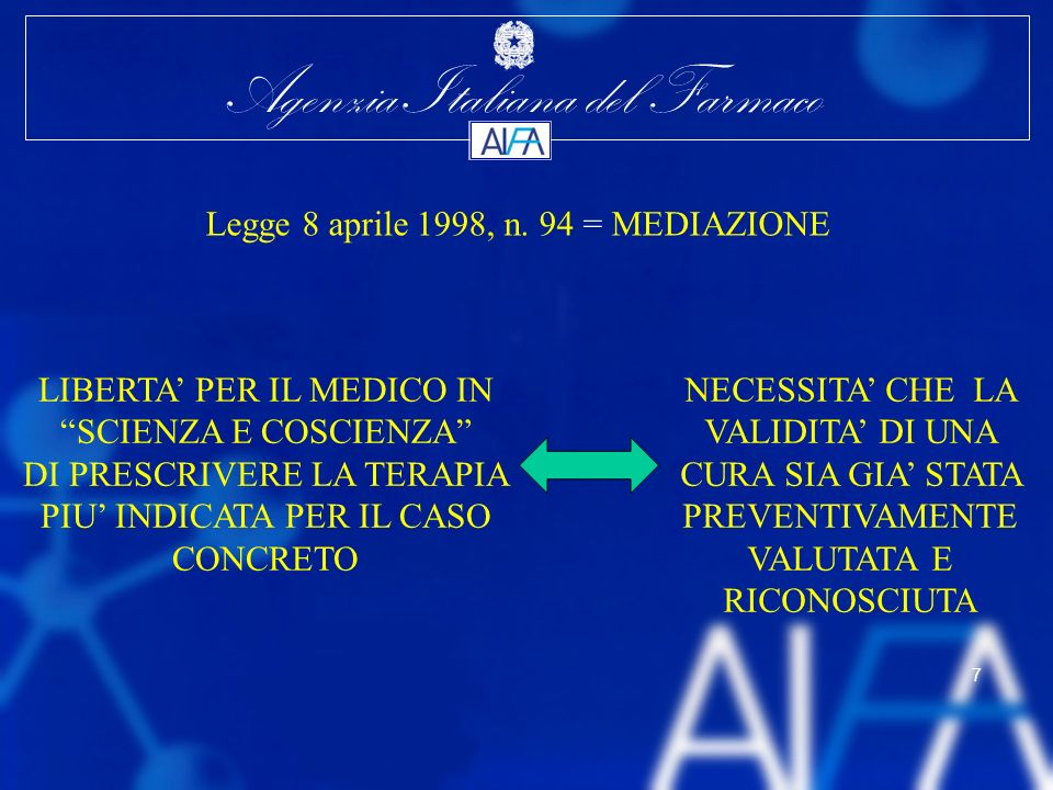 Legge 8 aprile 1998, n. 94 = MEDIAZIONE