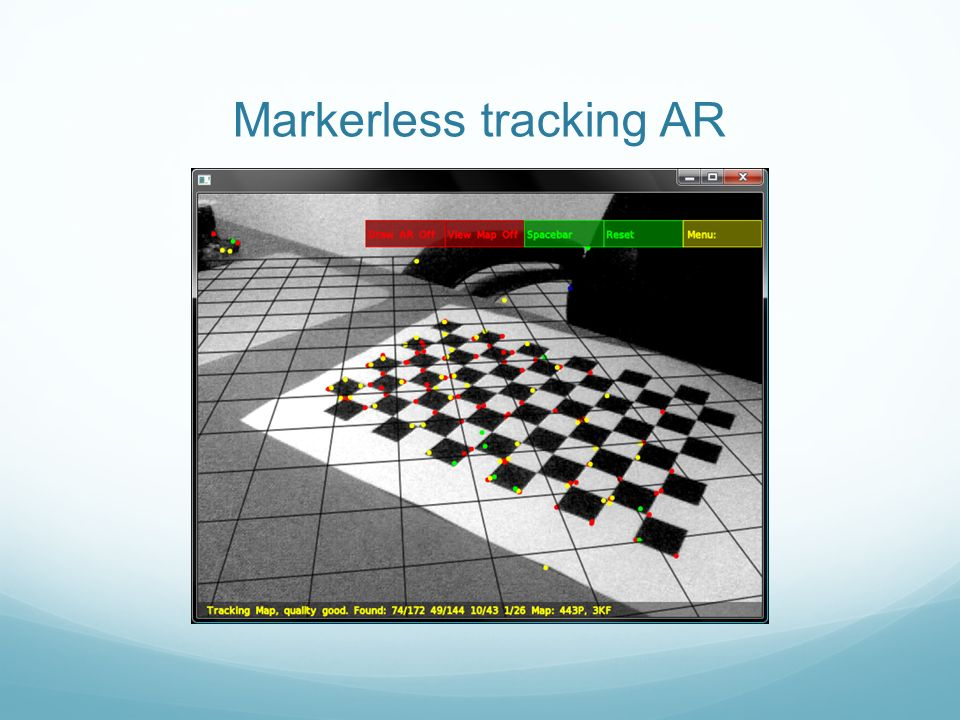 Markerless tracking AR