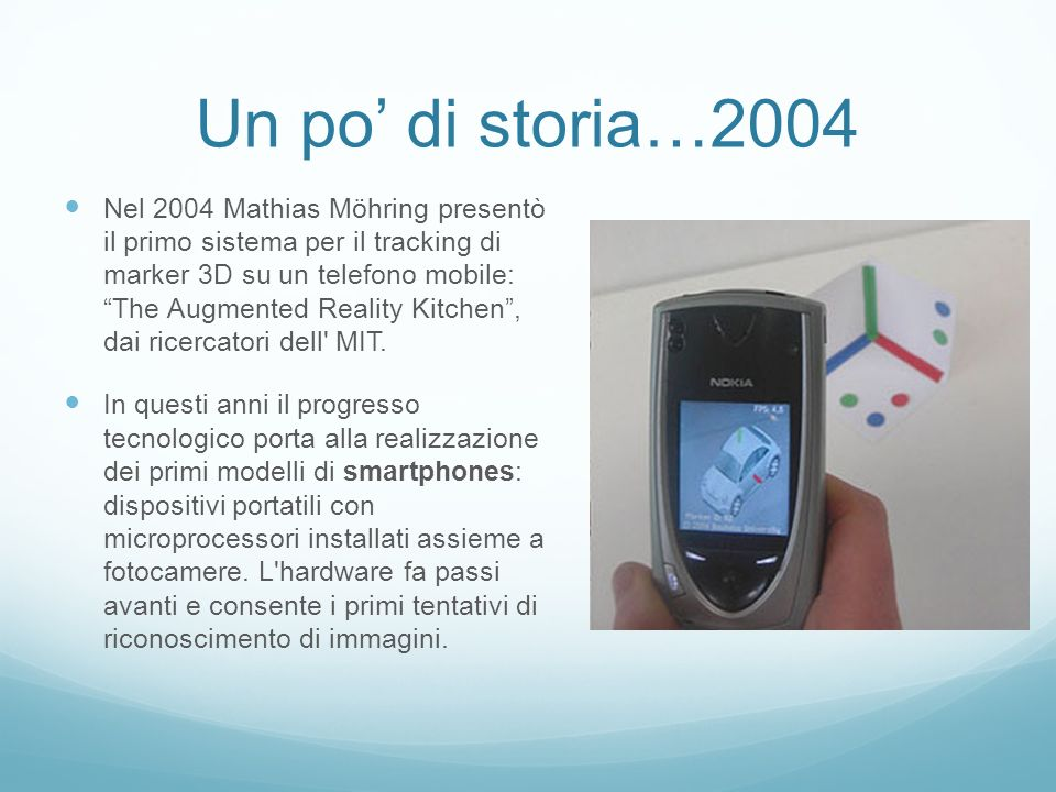 Un po' di storia…2004