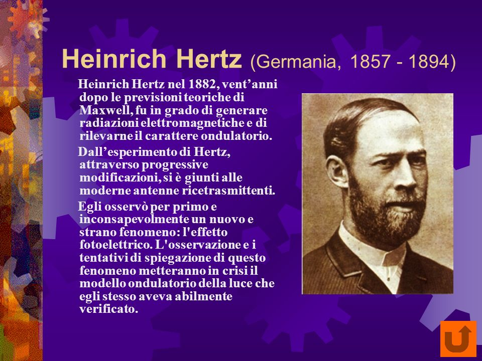 Heinrich Hertz (Germania, 1857 - 1894)
