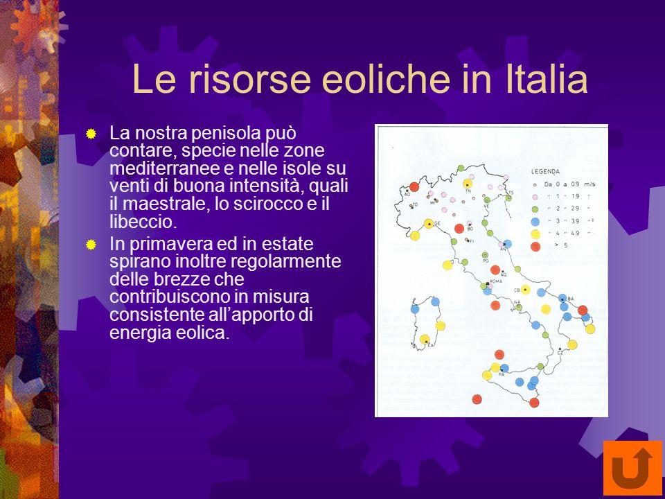 Le risorse eoliche in Italia