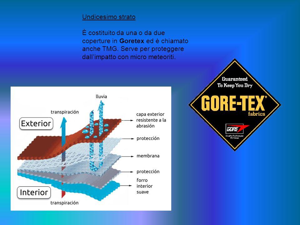 Undicesimo strato È costituito da una o da due coperture in Goretex ed è chiamato anche TMG.