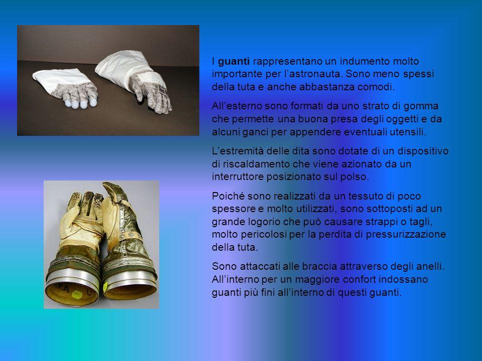 I guanti rappresentano un indumento molto importante per l'astronauta